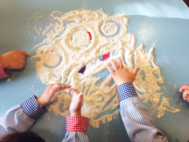 Resultado de imagen de jugamos con harina