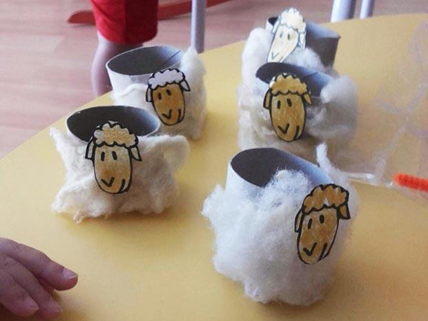 Hacemos ovejitas con lana