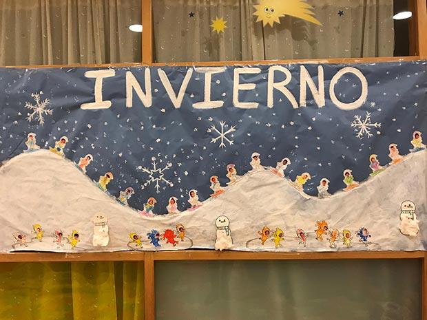 Fantástico mural de invierno