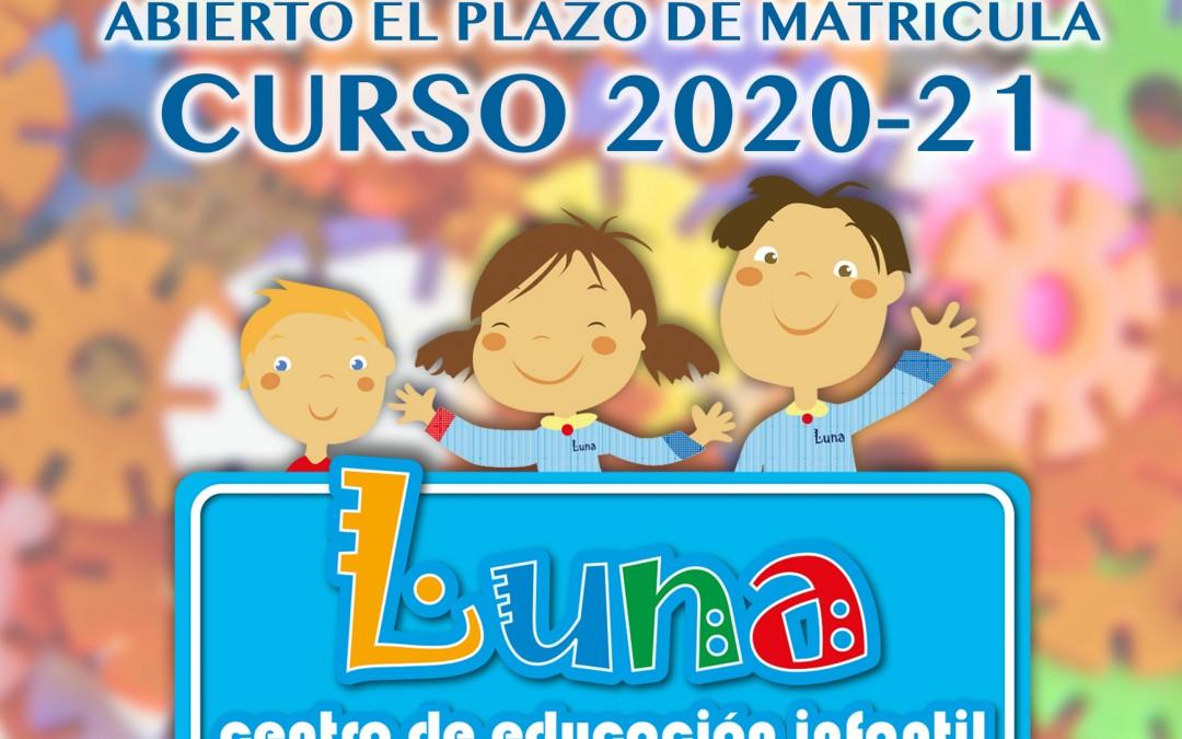 Plazo de matrícula curso 2020-21